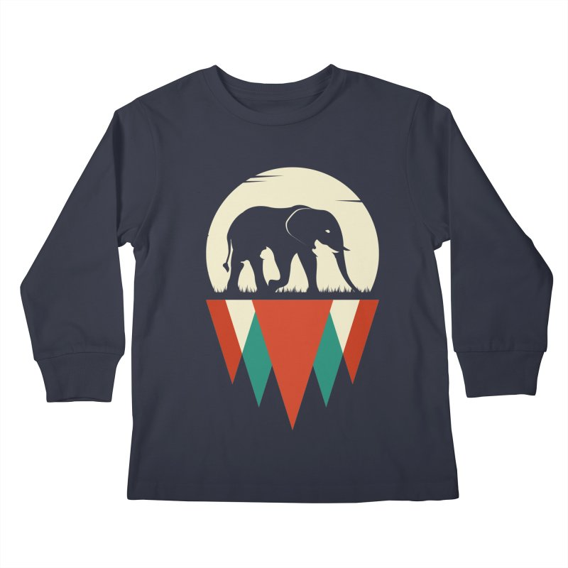 HIDDEN WILD SIDE Kids Longsleeve T-Shirt by EHELPENT