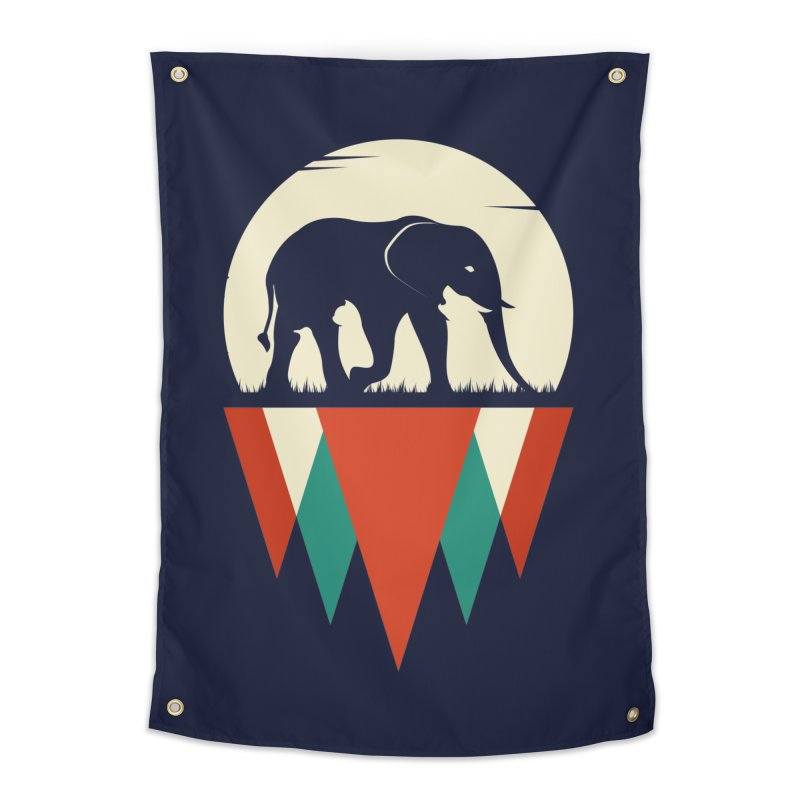 HIDDEN WILD SIDE Home Tapestry by EHELPENT