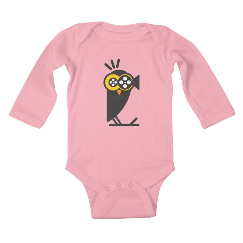 VIDEO OWL Kids Baby Longsleeve Bodysuit by EHELPENT