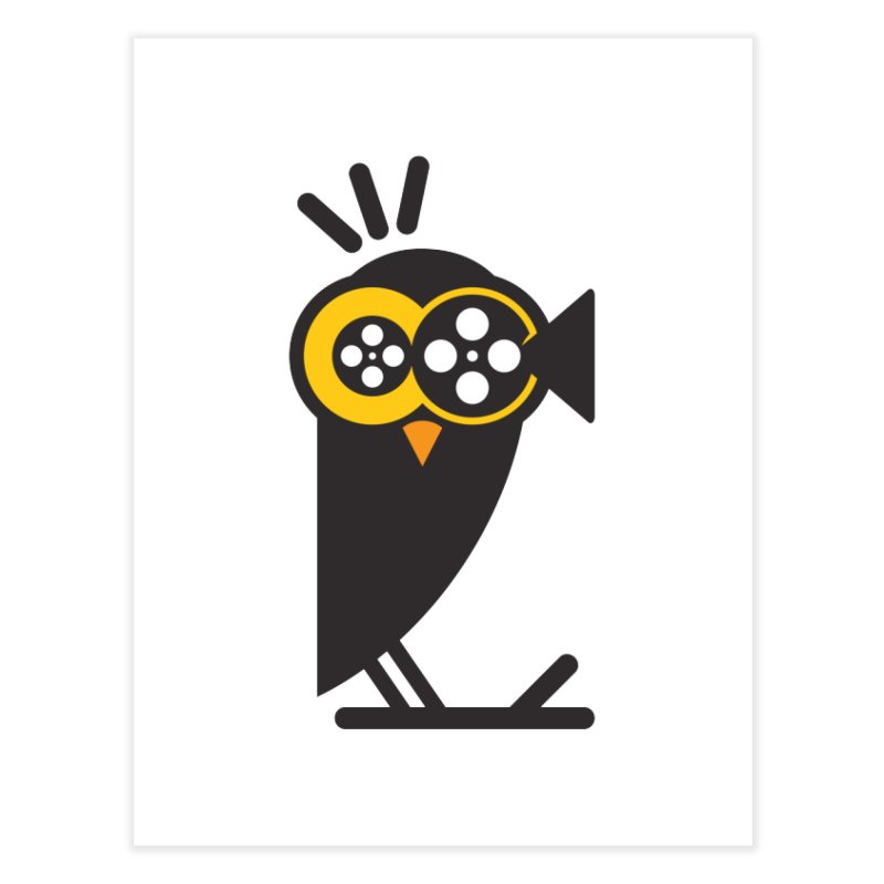 VIDEO OWL Home Fine Art Print by EHELPENT