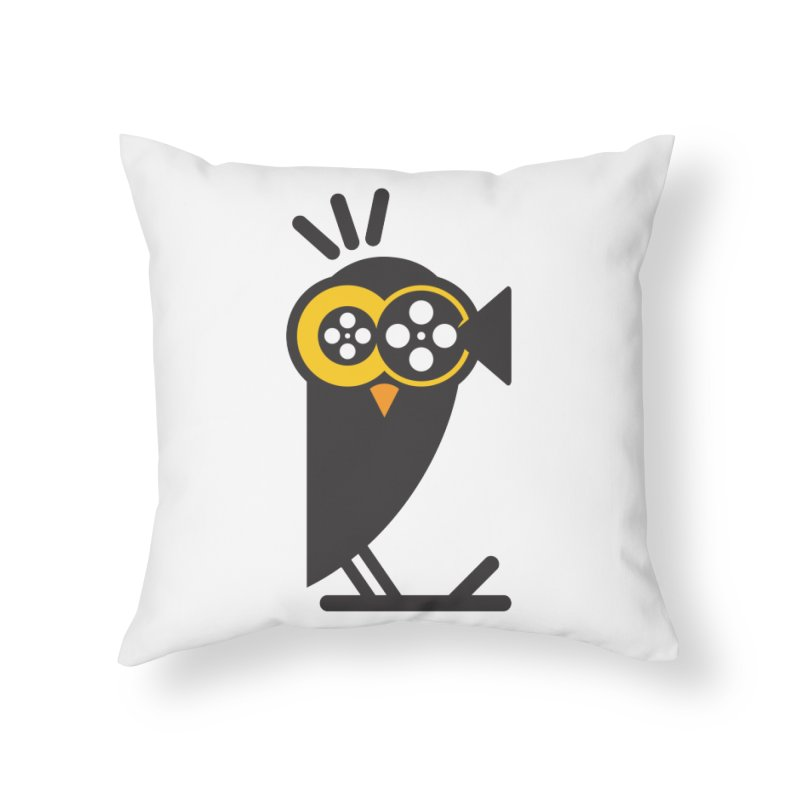 VIDEO OWL Home Throw Pillow by EHELPENT