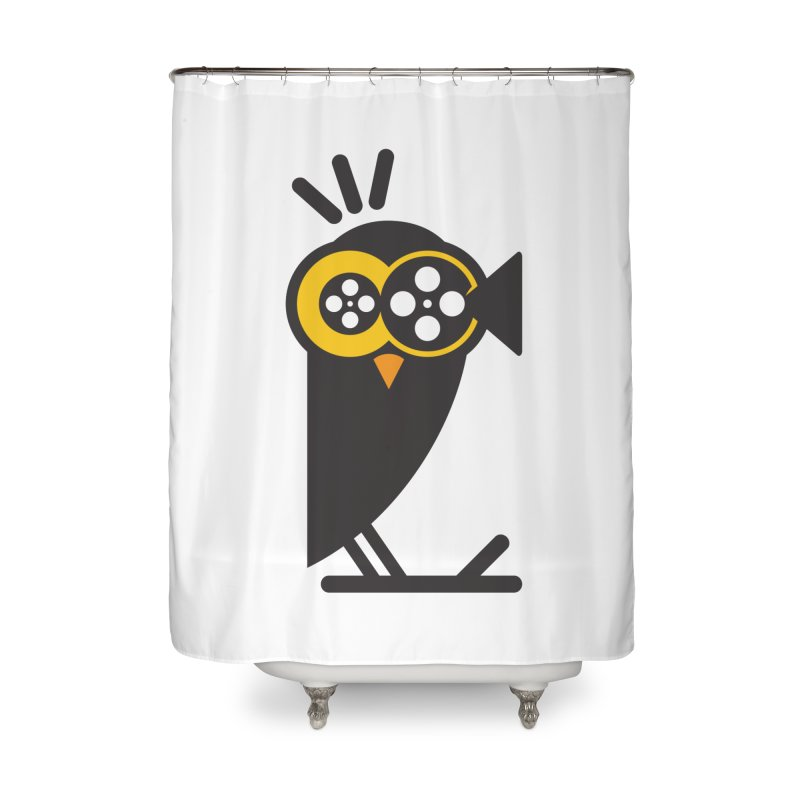 VIDEO OWL Home Shower Curtain by EHELPENT