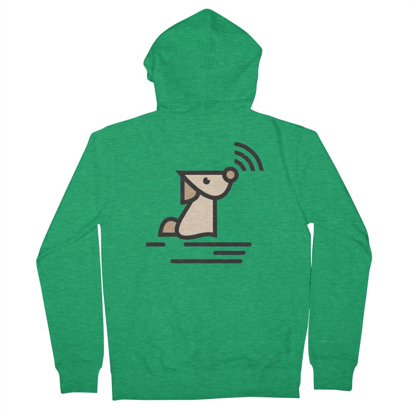 WIFI DOGI Men's Zip-Up Hoody by EHELPENT
