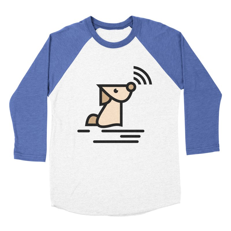WIFI DOGI Men's Baseball Triblend T-Shirt by EHELPENT