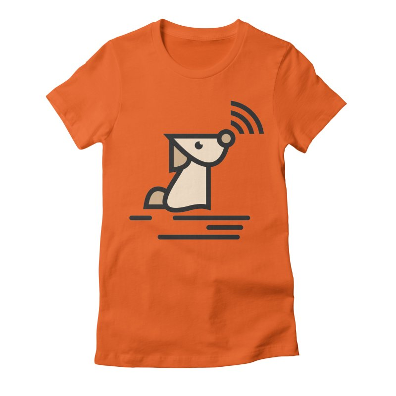 WIFI DOGI Women's Fitted T-Shirt by EHELPENT