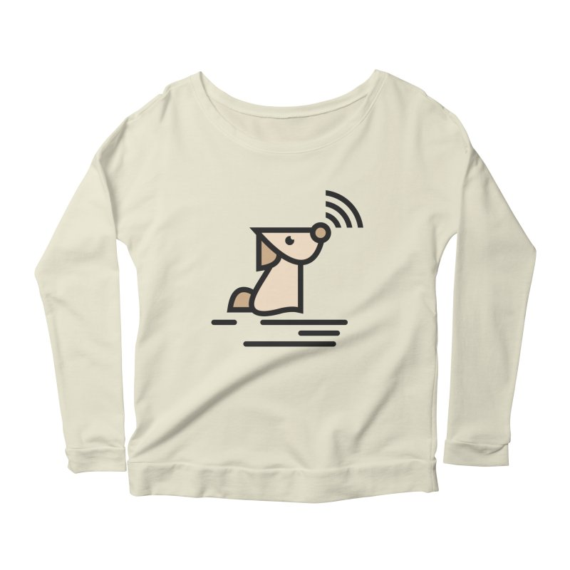 WIFI DOGI Women's Scoop Neck Longsleeve T-Shirt by EHELPENT