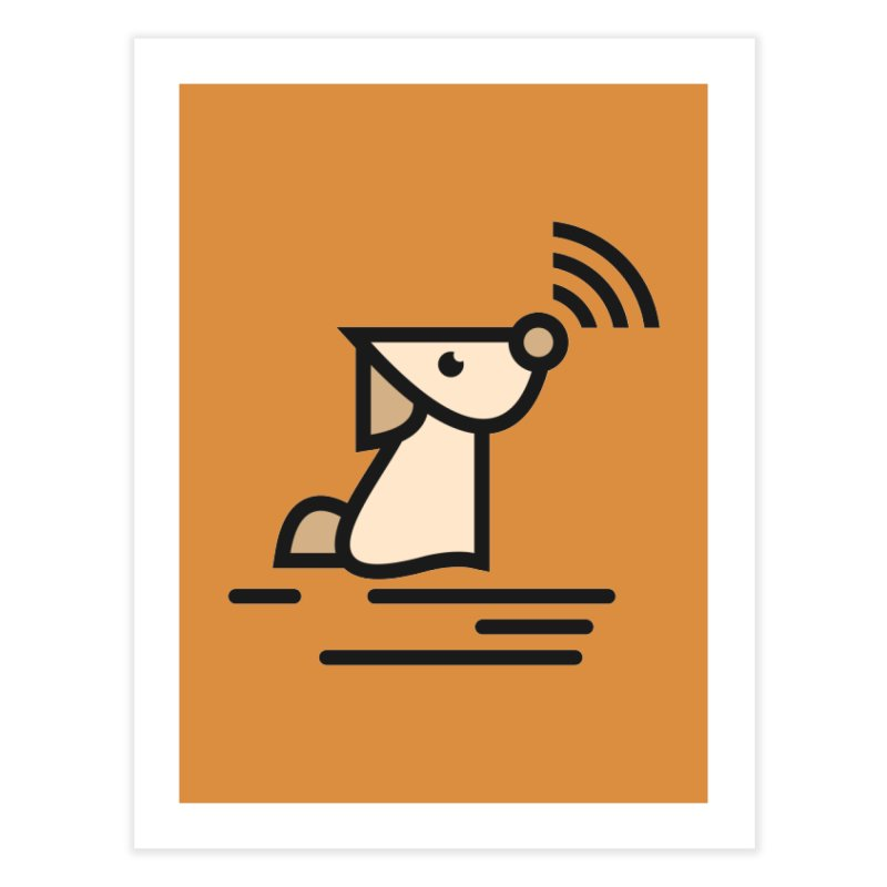 WIFI DOGI Home Fine Art Print by EHELPENT