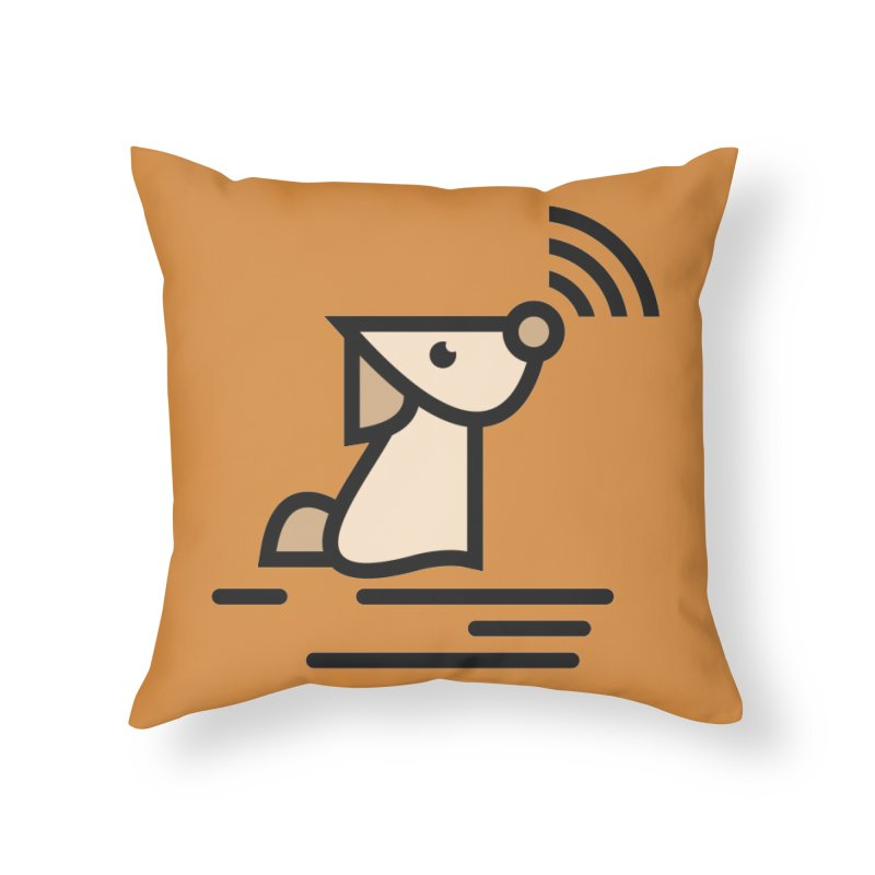 WIFI DOGI Home Throw Pillow by EHELPENT