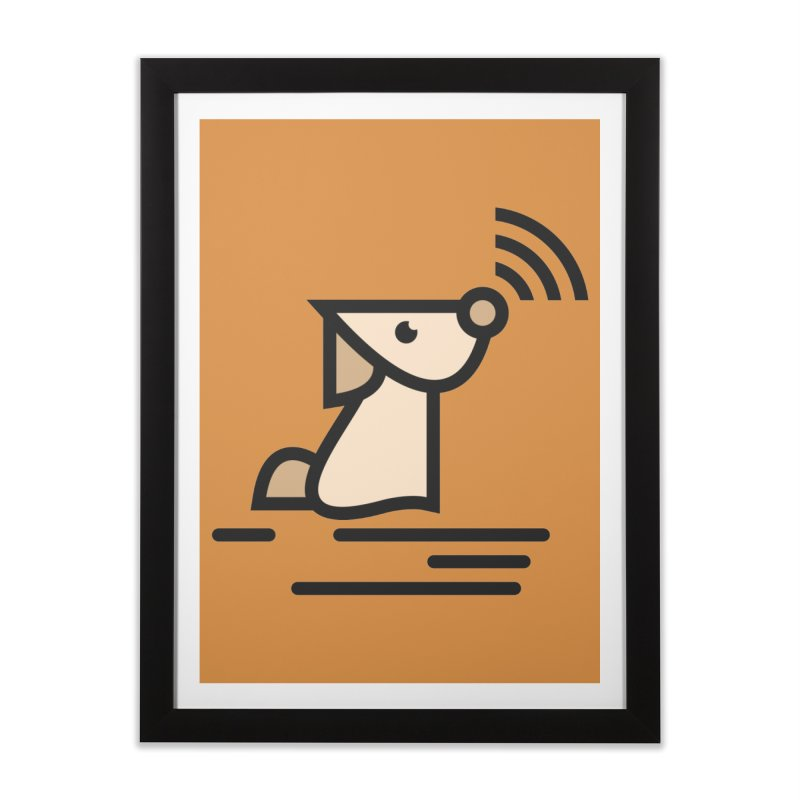 WIFI DOGI Home Framed Fine Art Print by EHELPENT