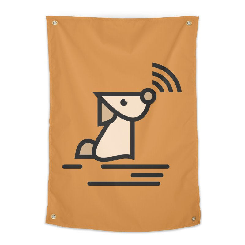WIFI DOGI Home Tapestry by EHELPENT
