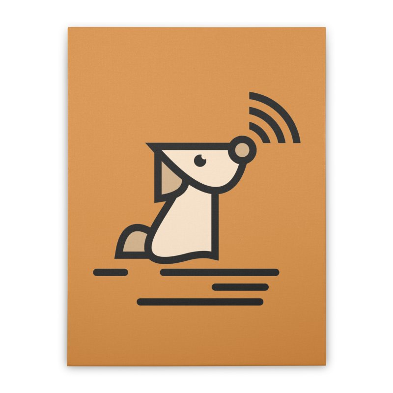 WIFI DOGI Home Stretched Canvas by EHELPENT