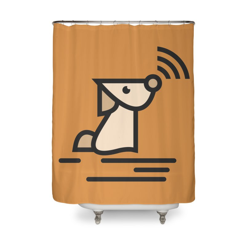 WIFI DOGI Home Shower Curtain by EHELPENT
