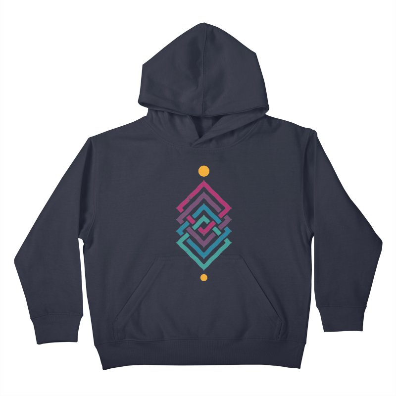OUTSIDE THE LINK Kids Pullover Hoody by EHELPENT