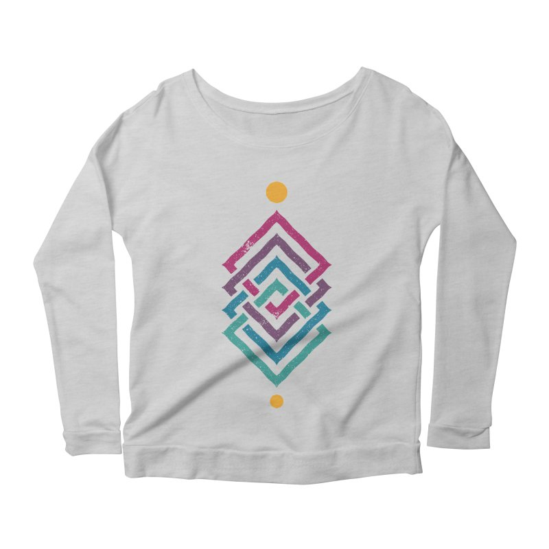 OUTSIDE THE LINK Women's Longsleeve Scoopneck  by EHELPENT