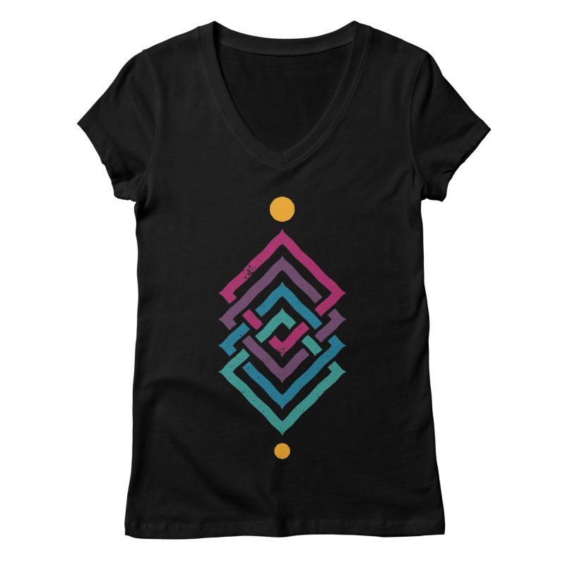 OUTSIDE THE LINK Women's V-Neck by EHELPENT