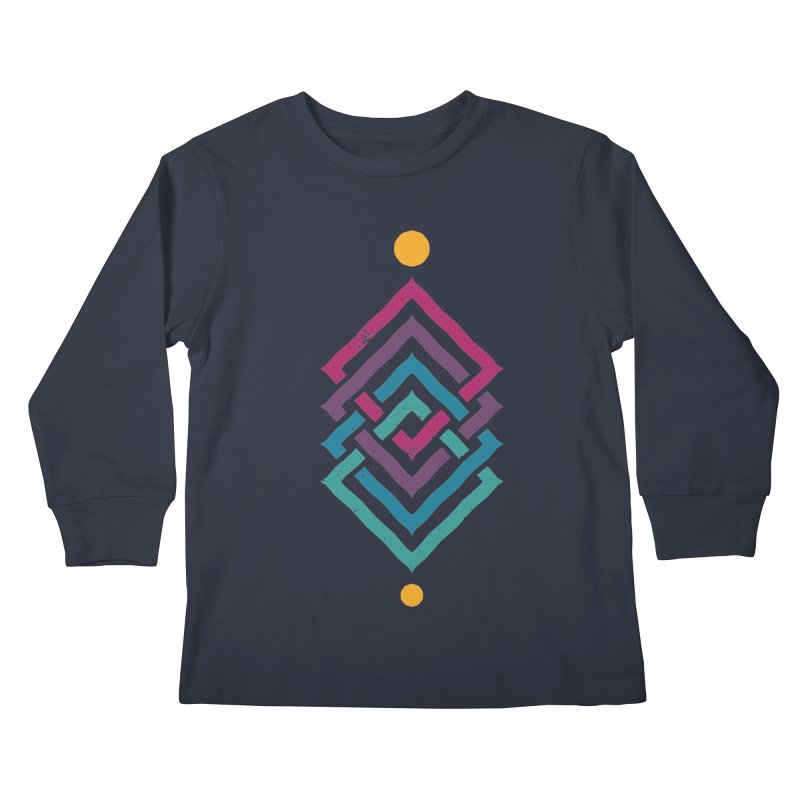 OUTSIDE THE LINK Kids Longsleeve T-Shirt by EHELPENT