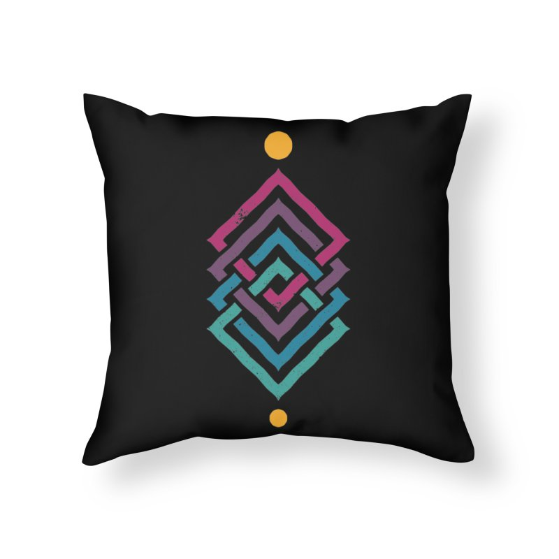 OUTSIDE THE LINK Home Throw Pillow by EHELPENT