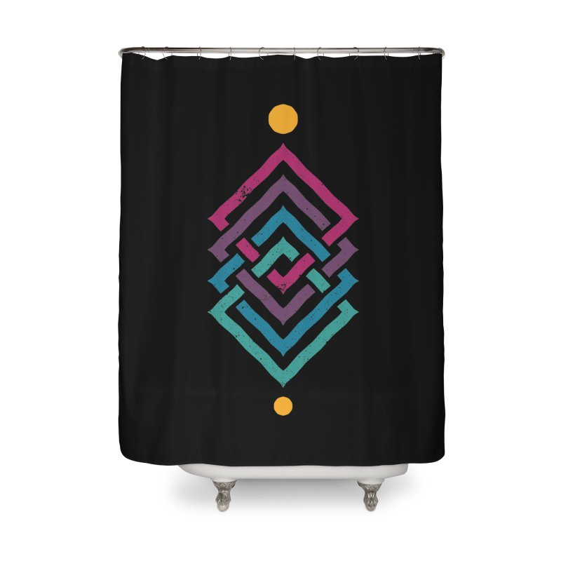 OUTSIDE THE LINK Home Shower Curtain by EHELPENT
