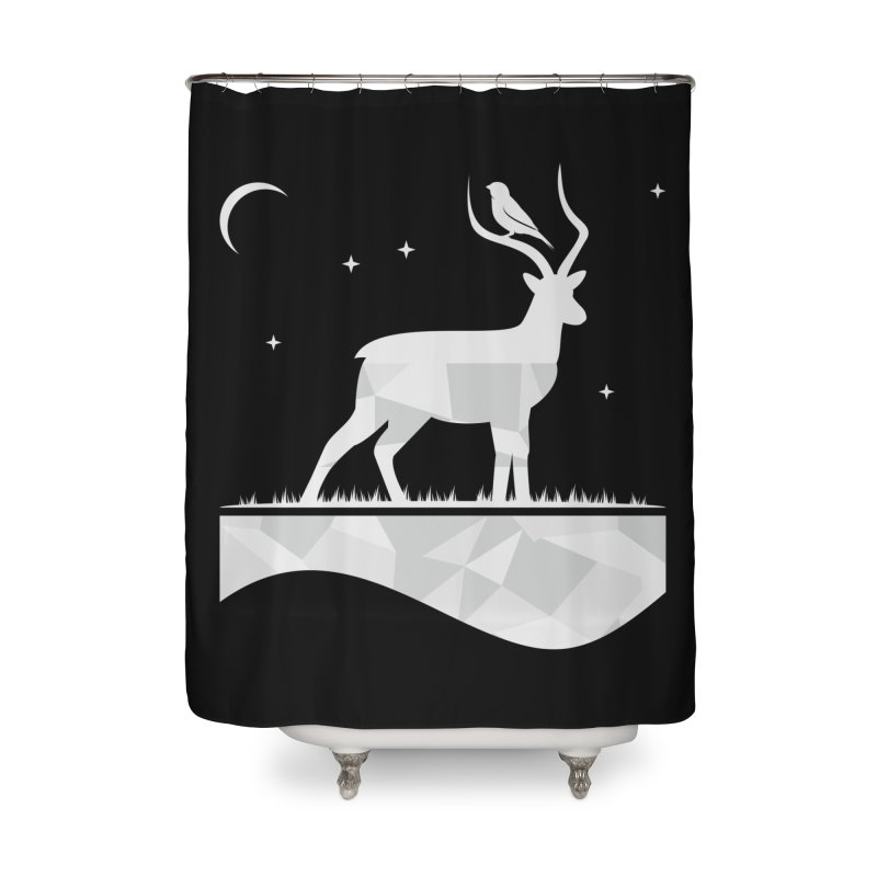 ASSYMETRY Home Shower Curtain by EHELPENT