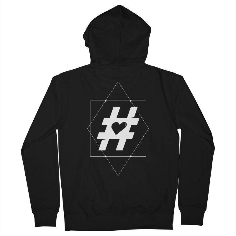 TAG MY HEART Men's Zip-Up Hoody by EHELPENT