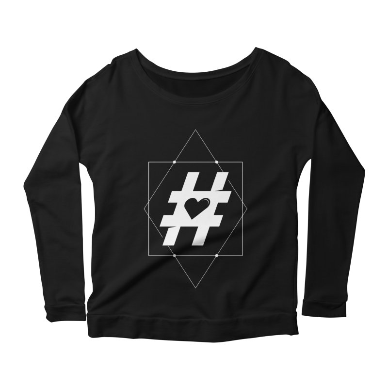 TAG MY HEART Women's Longsleeve Scoopneck  by EHELPENT