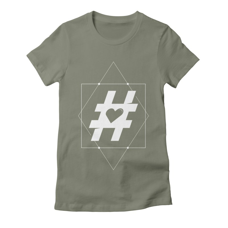 TAG MY HEART Women's Fitted T-Shirt by EHELPENT