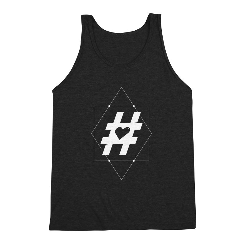 TAG MY HEART Men's Triblend Tank by EHELPENT