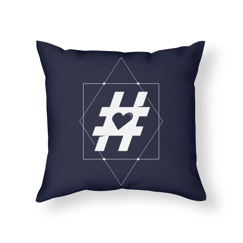 TAG MY HEART Home Throw Pillow by EHELPENT