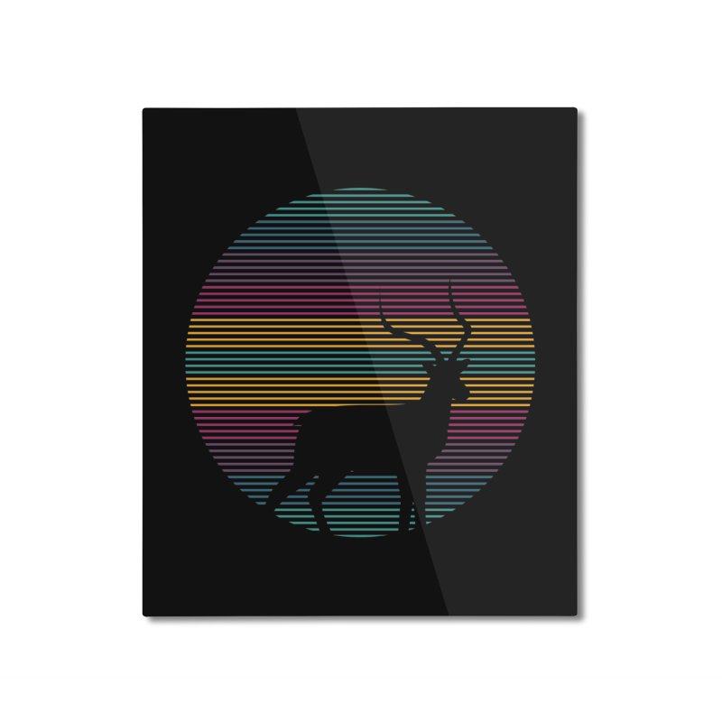 THE HAPPY IMPALA Home Mounted Aluminum Print by EHELPENT