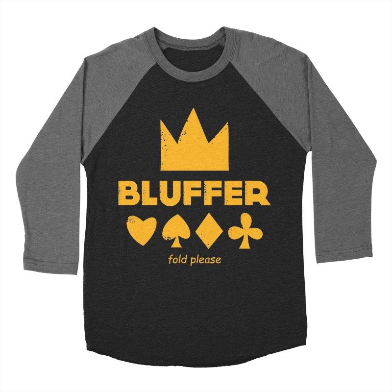BLUFFER Men's Baseball Triblend Longsleeve T-Shirt by EHELPENT