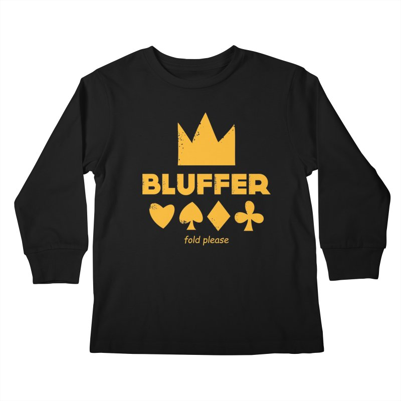 BLUFFER Kids Longsleeve T-Shirt by EHELPENT