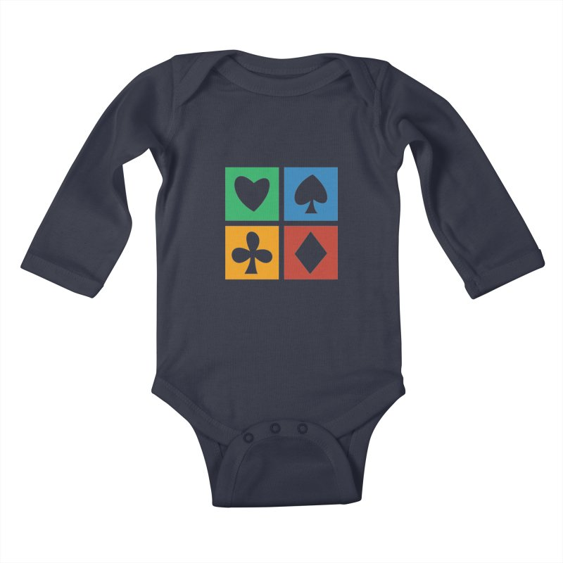 POKERHOLIC Kids Baby Longsleeve Bodysuit by EHELPENT