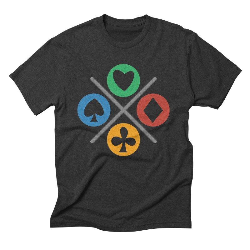 POKER JOYSTICK Men's Triblend T-Shirt by EHELPENT