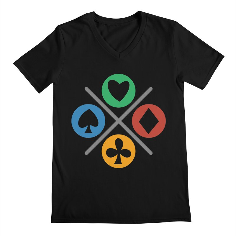 POKER JOYSTICK Men's Regular V-Neck by EHELPENT