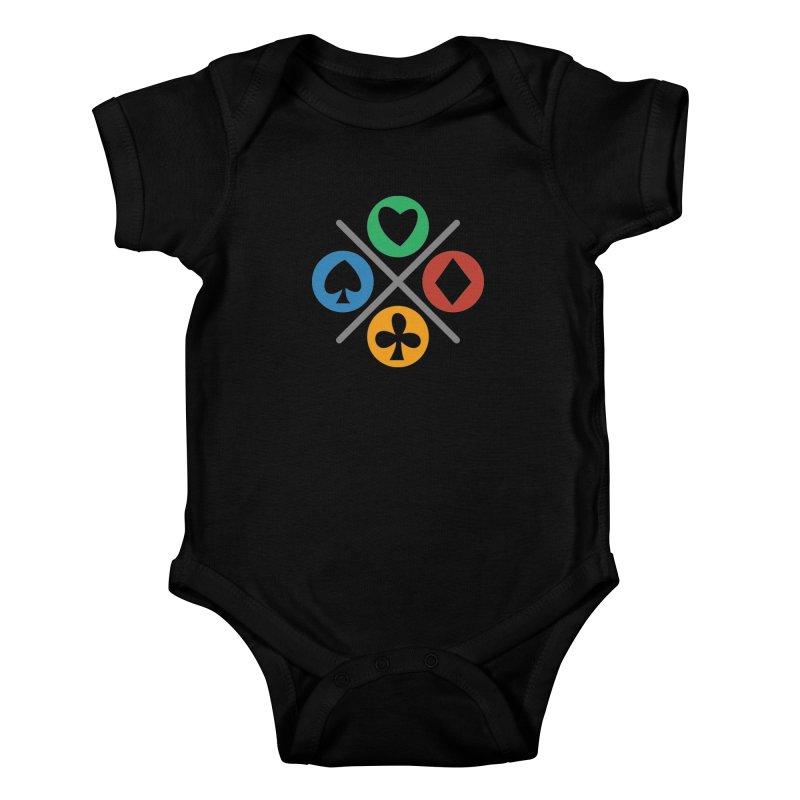 POKER JOYSTICK Kids Baby Bodysuit by EHELPENT