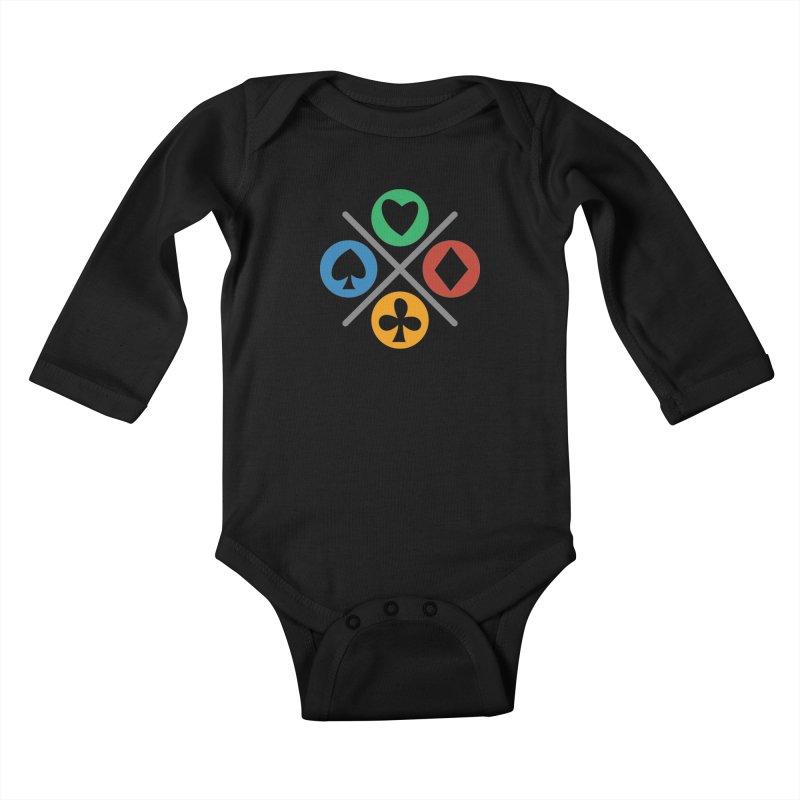 POKER JOYSTICK Kids Baby Longsleeve Bodysuit by EHELPENT