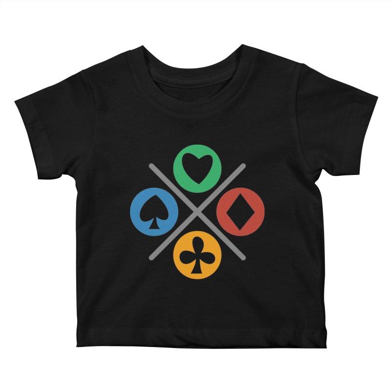POKER JOYSTICK Kids Baby T-Shirt by EHELPENT