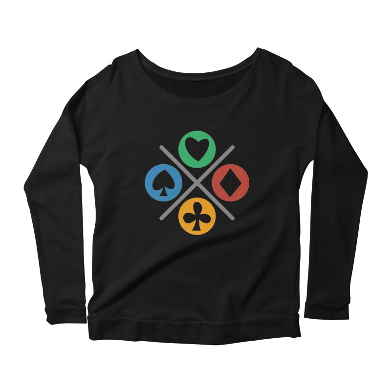 POKER JOYSTICK Women's Scoop Neck Longsleeve T-Shirt by EHELPENT