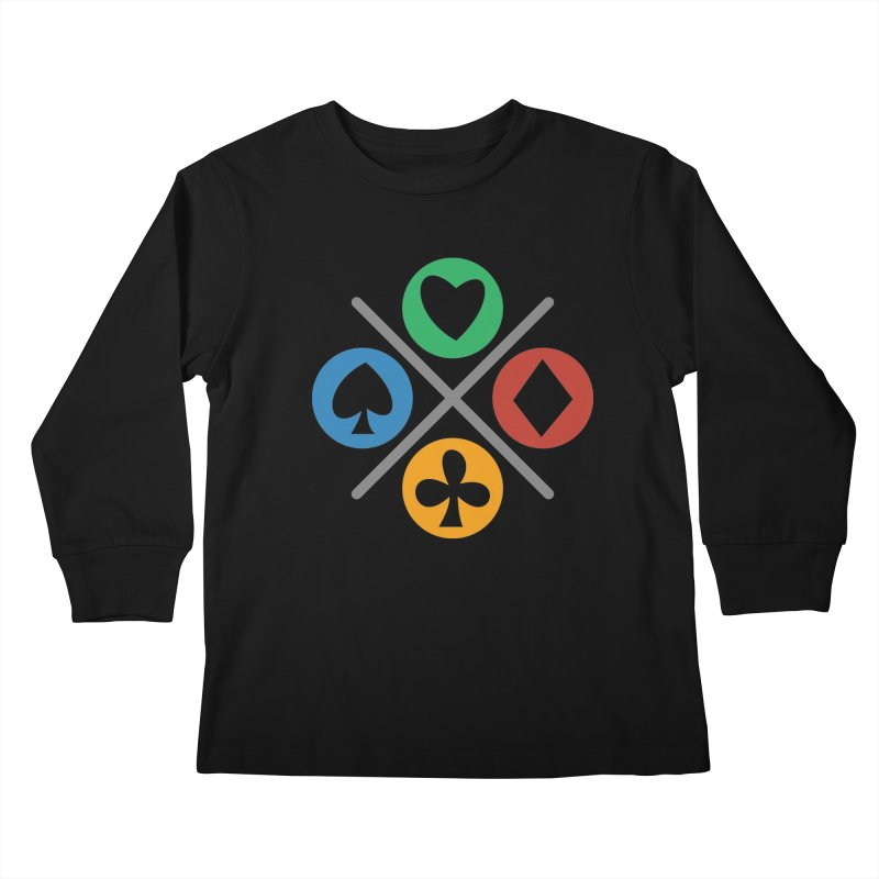 POKER JOYSTICK Kids Longsleeve T-Shirt by EHELPENT