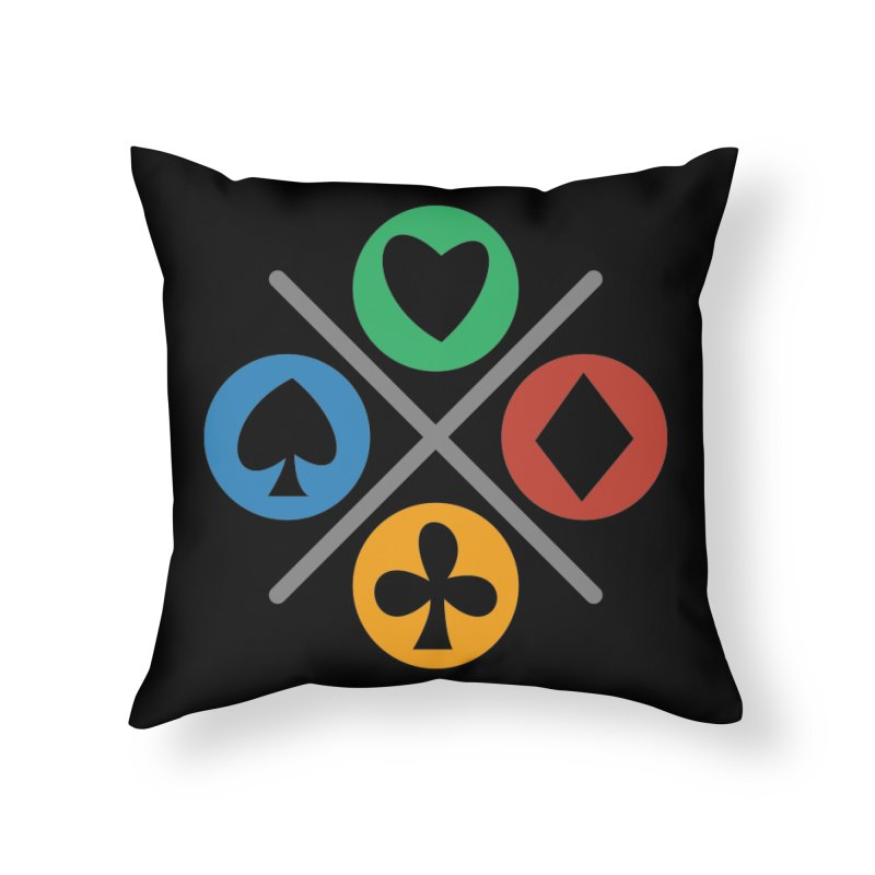 POKER JOYSTICK Home Throw Pillow by EHELPENT