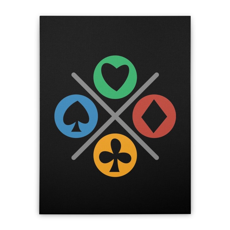 POKER JOYSTICK Home Stretched Canvas by EHELPENT