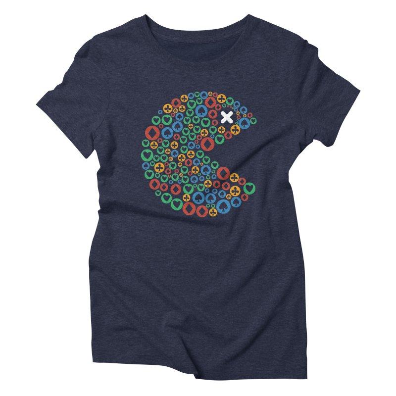 POKERMAN Women's Triblend T-Shirt by EHELPENT
