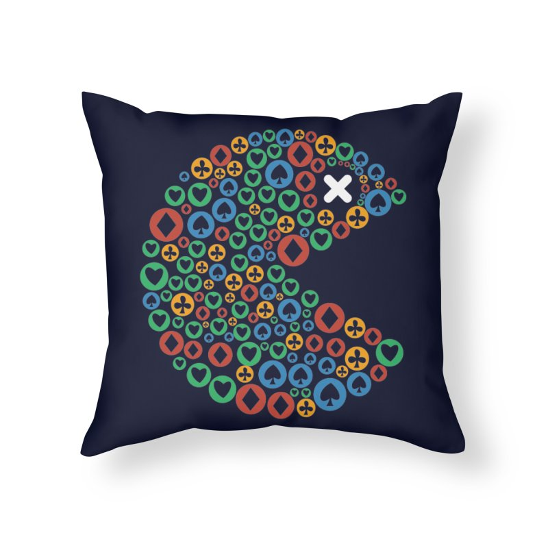 POKERMAN Home Throw Pillow by EHELPENT