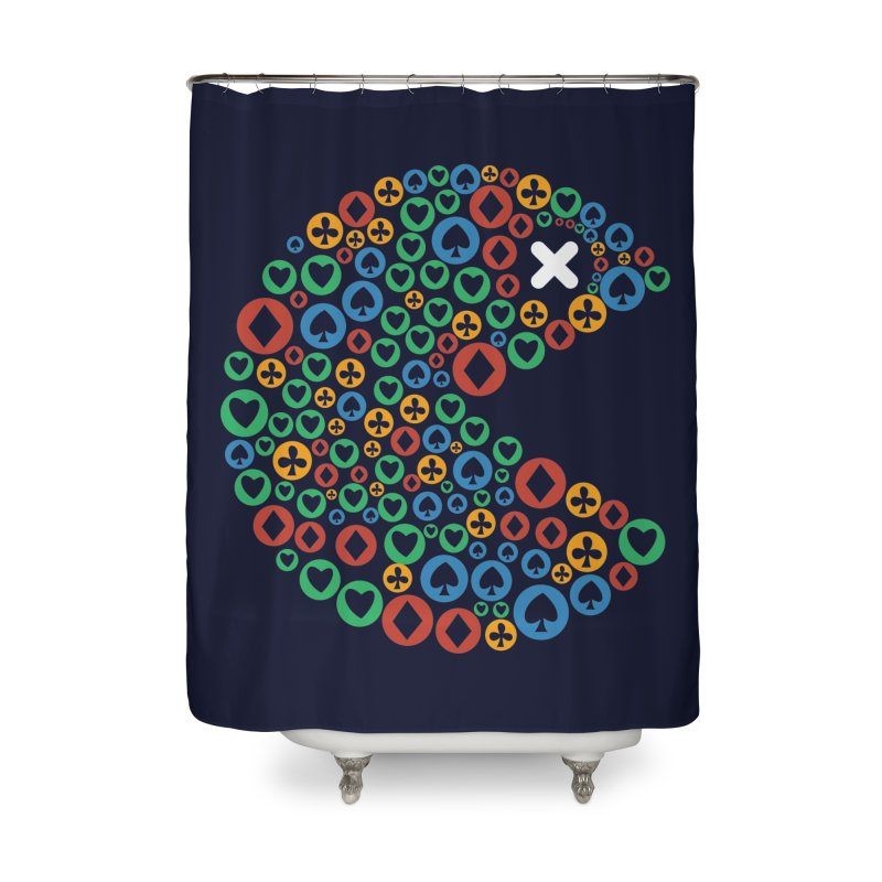 POKERMAN Home Shower Curtain by EHELPENT