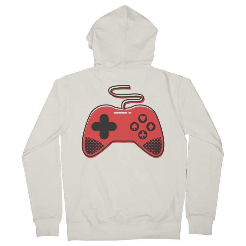 POKER CONTROLLER Men's French Terry Zip-Up Hoody by EHELPENT