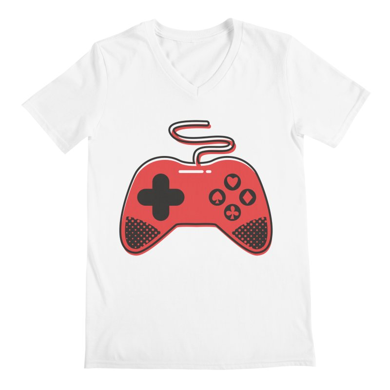 POKER CONTROLLER Men's Regular V-Neck by EHELPENT