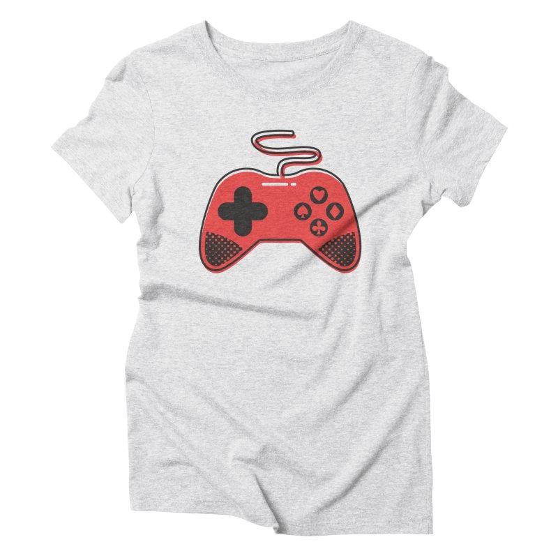 POKER CONTROLLER in Women's Triblend T-Shirt Heather White by EHELPENT