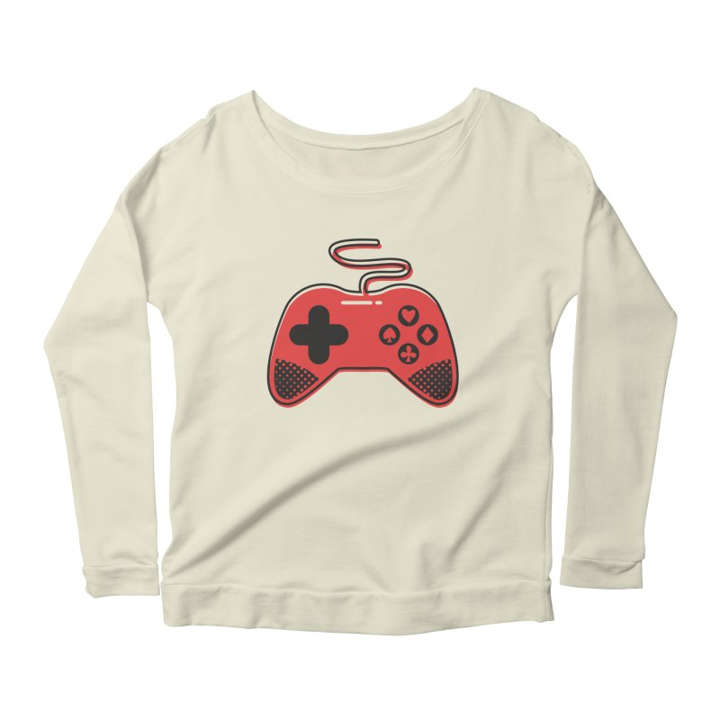 POKER CONTROLLER Women's Scoop Neck Longsleeve T-Shirt by EHELPENT