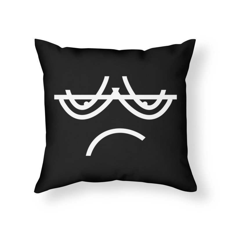 SAD EMOJI Home Throw Pillow by EHELPENT