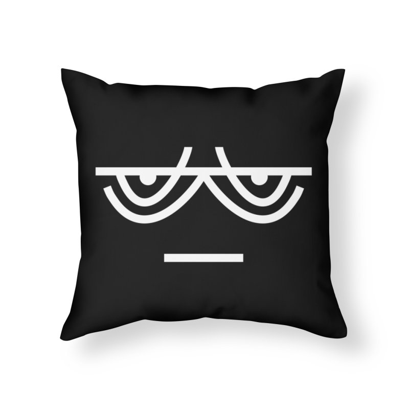 TIRED X BORED EMOJI Home Throw Pillow by EHELPENT